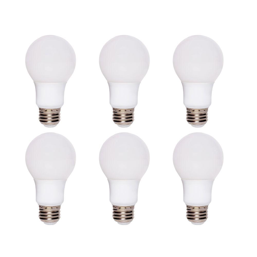 Ampoule à DEL A19 à intensité réglable, blanc doux (2700K), équivalant à 60 W (paquet de 6)