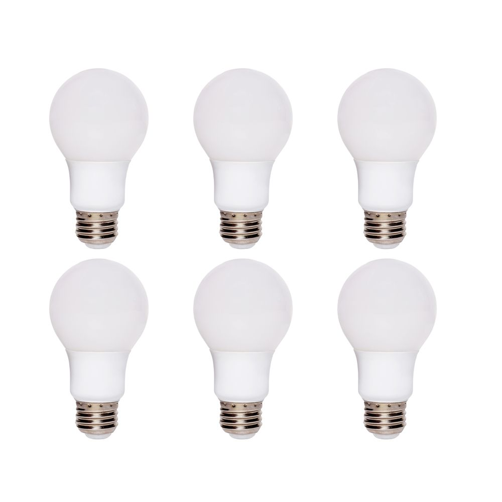 Ecosmart 60W Equivalent Soft White (2700K) A19 Dimmable LED Light Bulb (6-Pack) - ENERGY STAR®