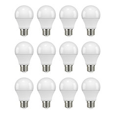 60W Equivalent Soft White (2700K) A19 Non-Dimmable LED Light Bulb (12-Pack)