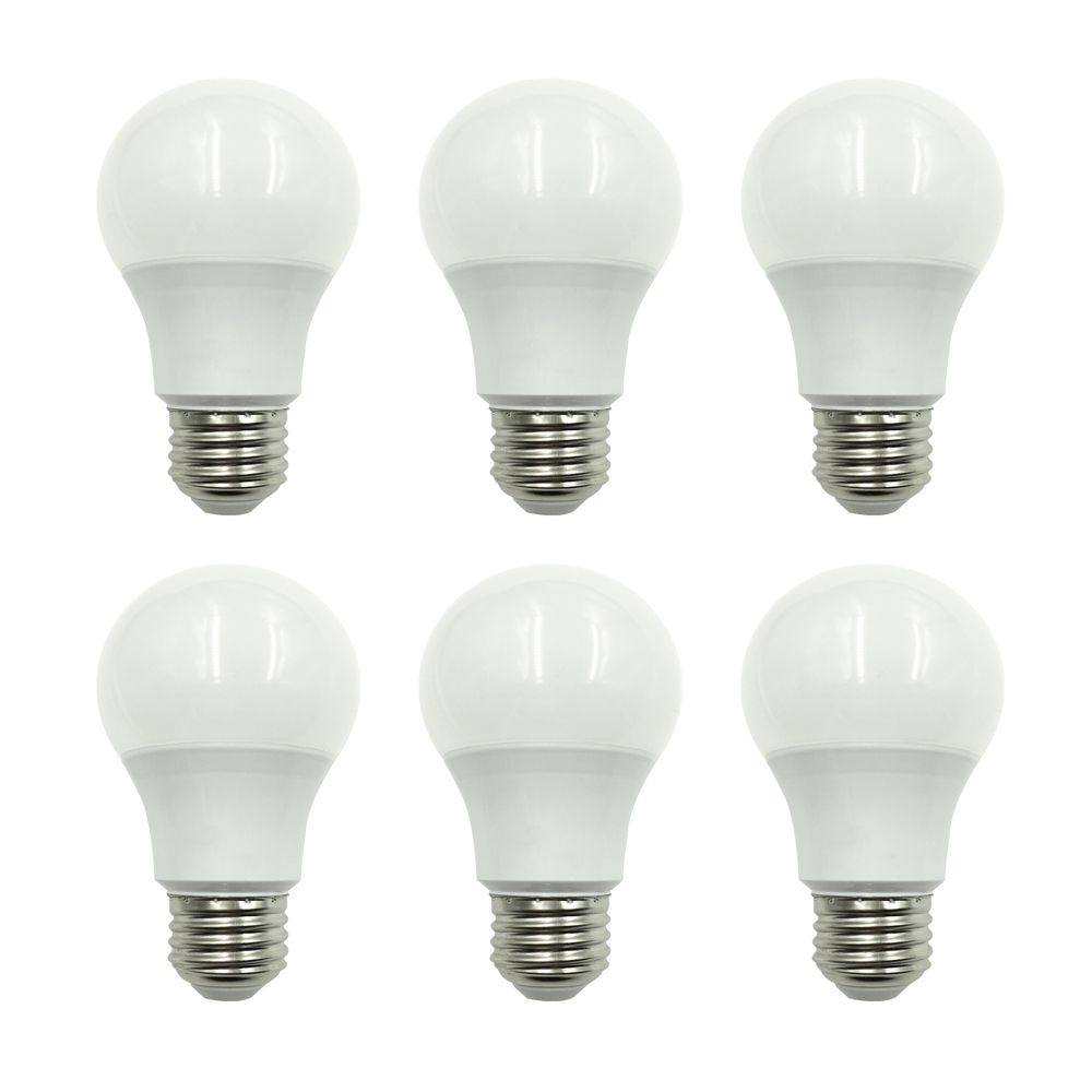 Ampoule à DEL A19 à intensité non réglable, blanc doux (2 700K), équivalant à 60 W (paquet de 6)
