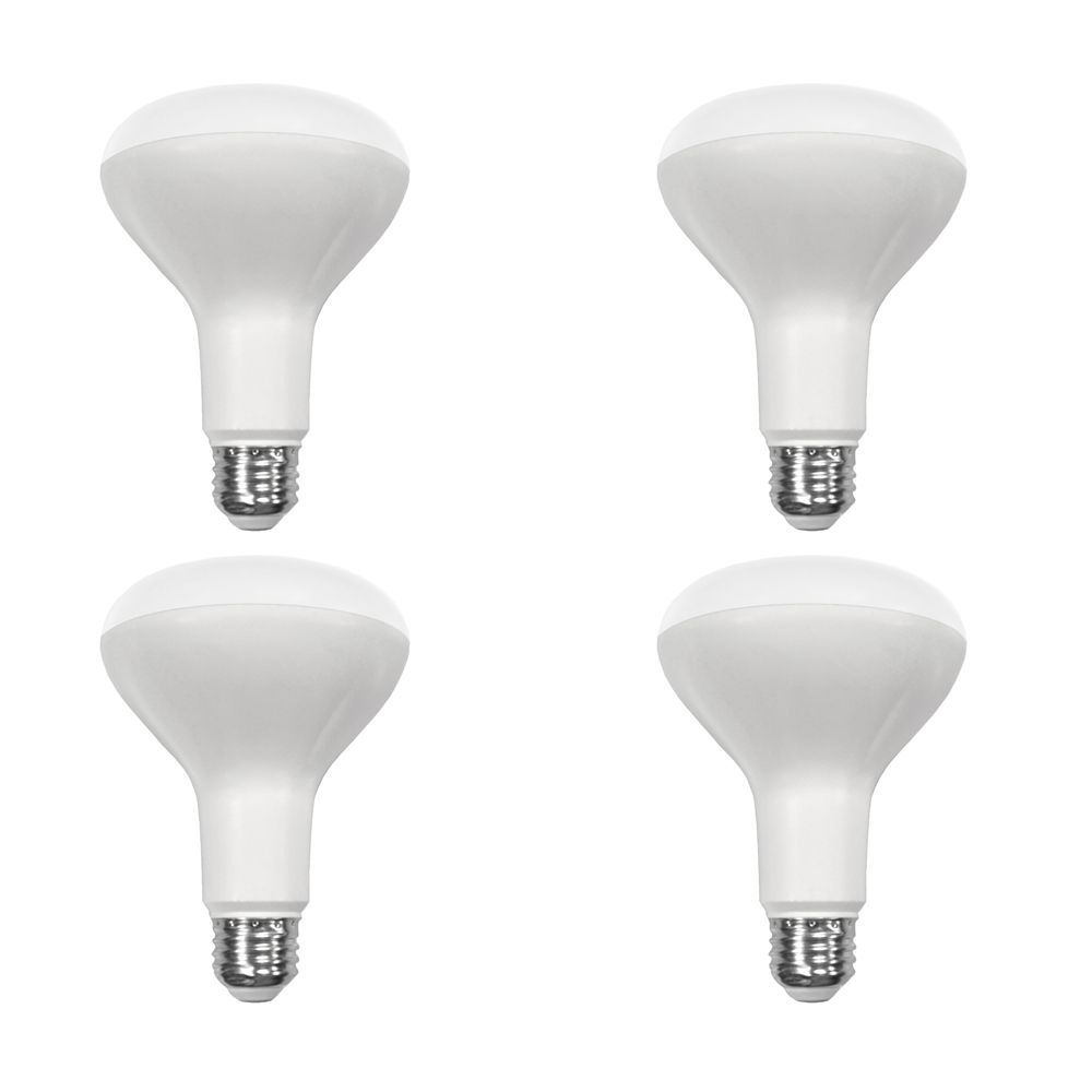 65W Equivalent Soft White (2700K) BR30 Dimmable LED Light Bulb (4-Pack) 50209012704 in Canada