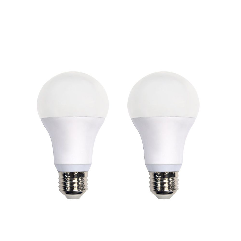 Connected 60W Equivalent Daylight (5000K) A19 Dimmable LED Light Bulb (2-Pack)