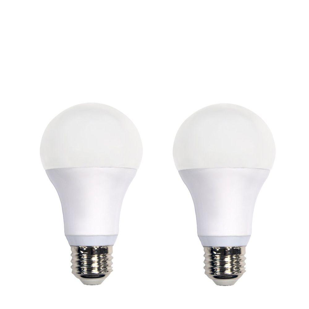 Ampoule à DEL A19 à intensité réglable commandée à distance, blanc doux (2 700K), équivalant à 60...