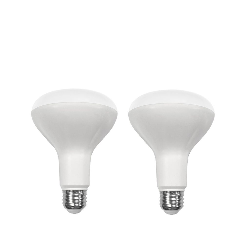 Connected 65W Equivalent Soft White (2700K) BR30 Dimmable LED Light Bulb (2-Pack)