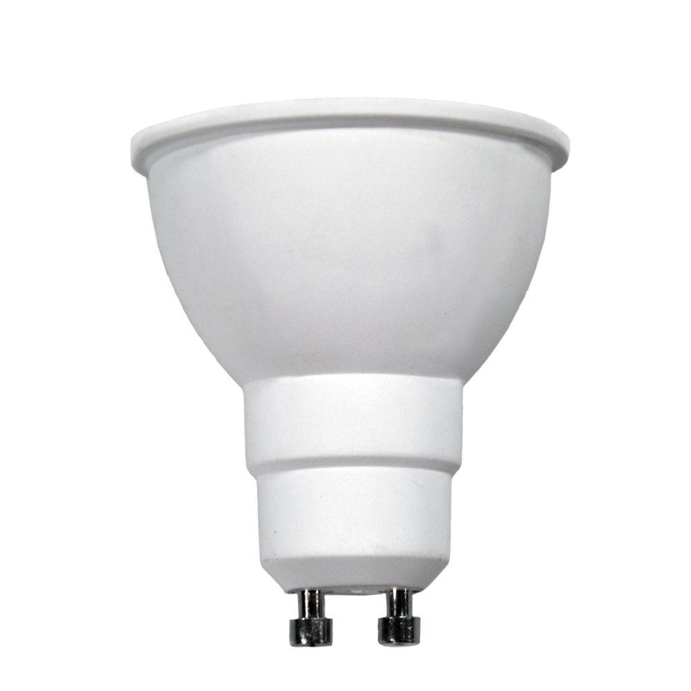 Ampoule à DEL GU10 à faisceau large et à intensité réglable commandée à distance, blanc brillant ...