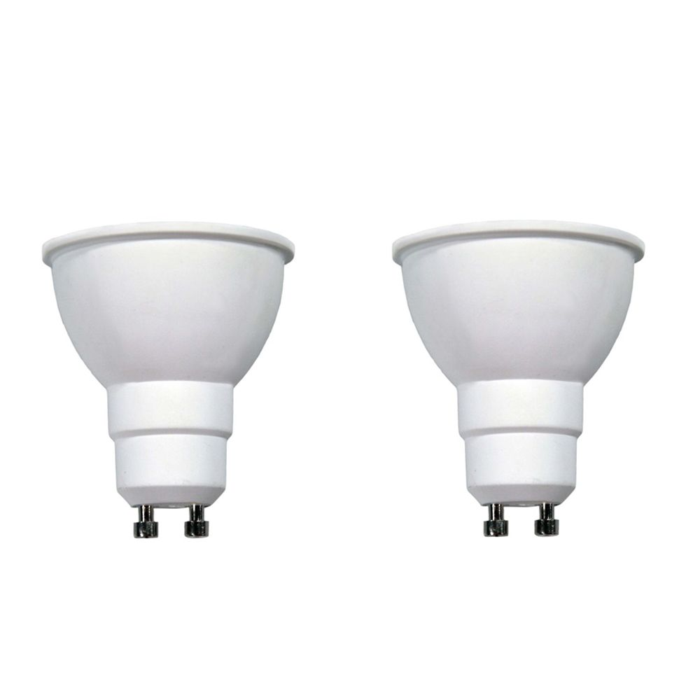 Connected 50W Equivalent Bright White (3000K) GU10 Dimmable LED Flood Light Bulb (2-Pack)