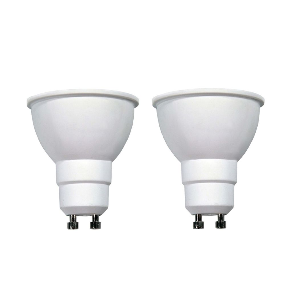 Connected 50W Equivalent Daylight (5000K) GU10 Dimmable LED Flood Light Bulb (2-Pack)