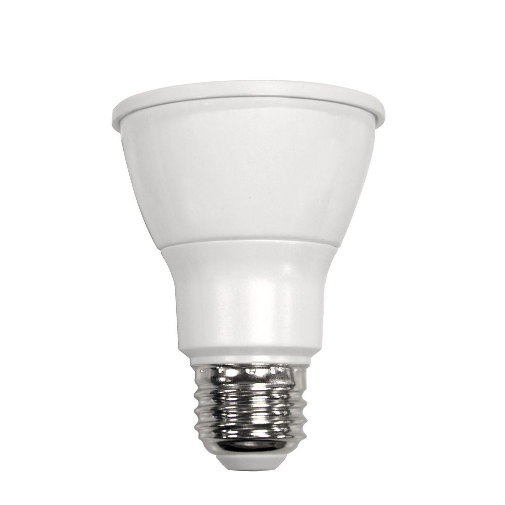 Ampoule à DEL PAR20 à faisceau large et à intensité réglable commandée à distance, blanc brillant...