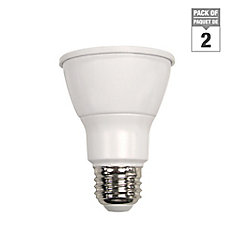 Connected 50W Equivalent Bright White (3000K) PAR20 Dimmable LED Flood Light Bulb (2-Pack)