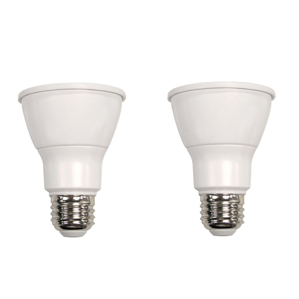 Connected 50W Equivalent Daylight (5000K) PAR20 Dimmable LED Flood Light Bulb (2-Pack)