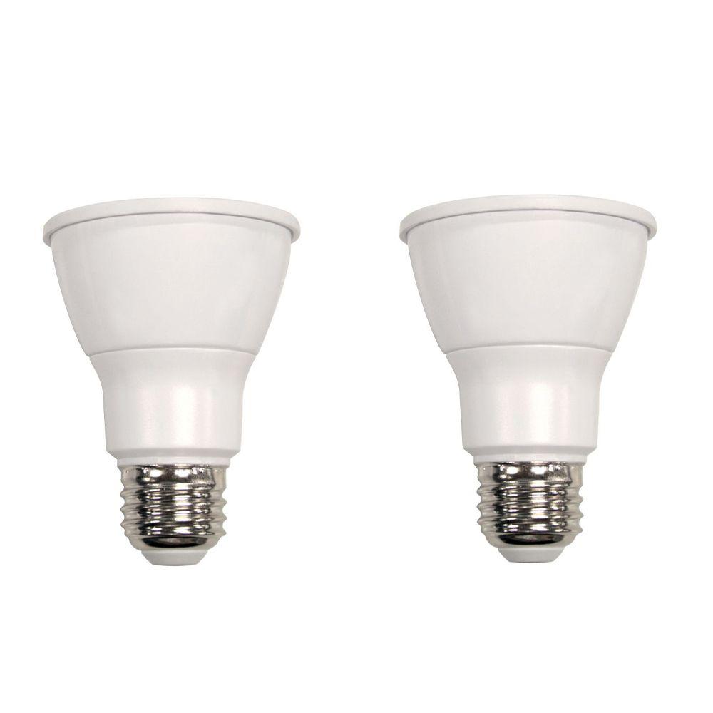 Ampoule à DEL PAR20 à faisceau large et à intensité réglable commandée à distance, lumière nature...