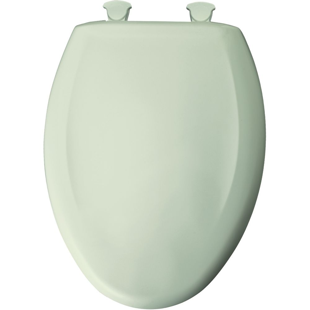 Bemis Elongated Closed Front Toilet Seat In Honeydew With Easy Clean And Chan