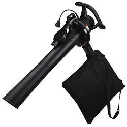 BLACK+DECKER 210 MPH 300 CFM 12 Amp Corded Electric Sweeper Leaf Blower