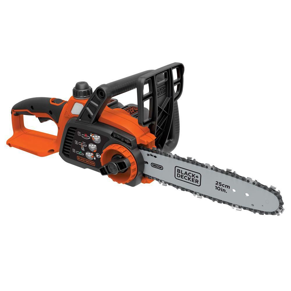 Black & Decker 10-inch 20V MAX Lithium-Ion Cordless Chainsaw with 2.0Ah Battery and Charger