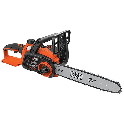 BLACK+DECKER 12-inch 40V MAX Lithium-Ion Cordless Chainsaw with 2.0 Ah Battery and Charger Included