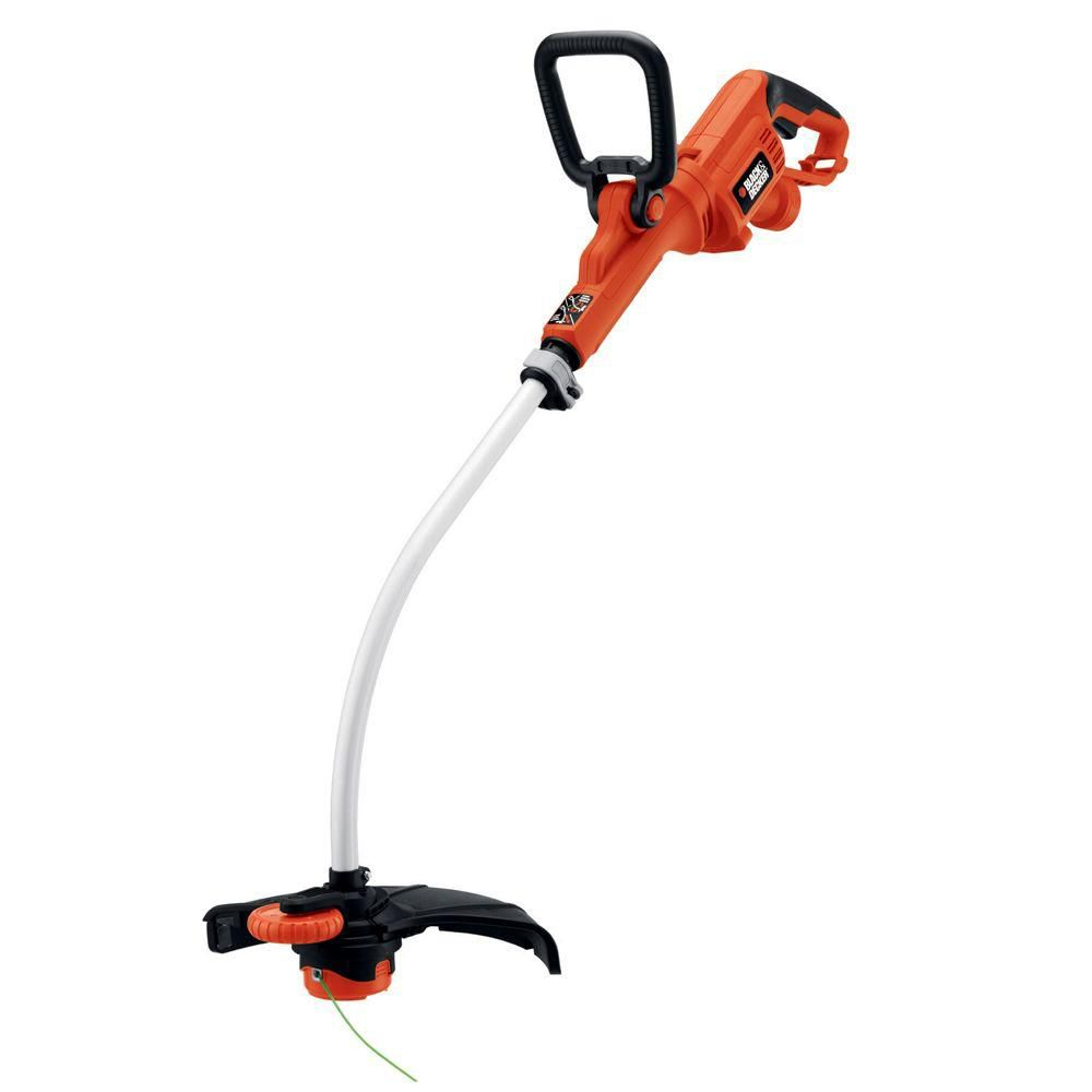BLACK+DECKER 14-inch 7.5 amp Electric Curved Shaft High Performance String Trimmer