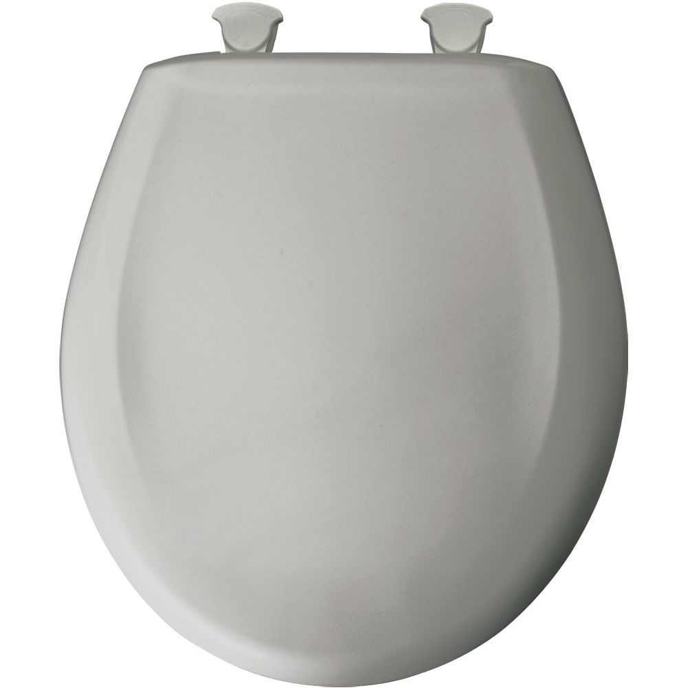 Bemis Round Plastic Toilet Seat With Whisper Close With Easy Clean Ch