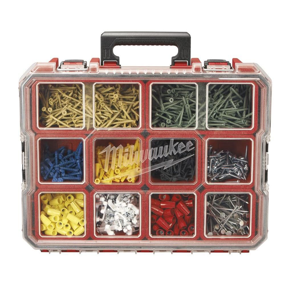 Milwaukee Tool 10-Compartment Red Deep Pro Small Parts Organizer