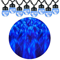 8-Light Blue LED Projection Christmas Lights