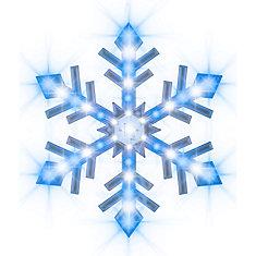 Snowflurry Snowflake-Icy Blue/White