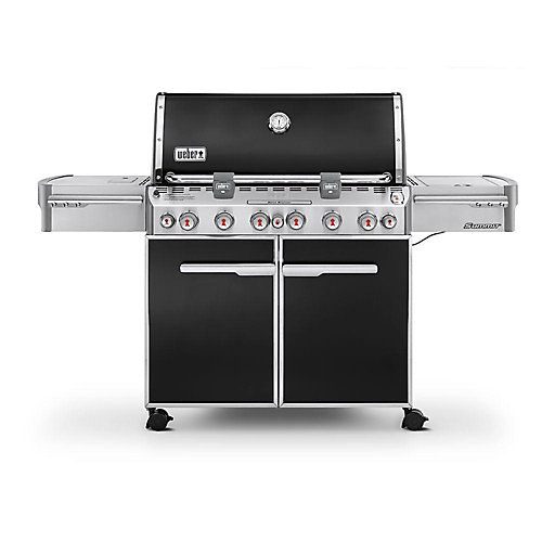 Summit E-670 6-Burner Propane Gas BBQ in Black