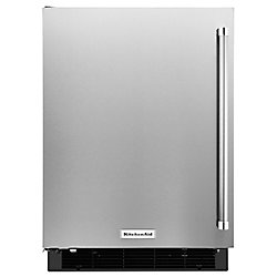 Réfrigérateur de 24 pouces W 4,9 pi3 en acier inoxydable sous le comptoir - porte pivotante à gauche