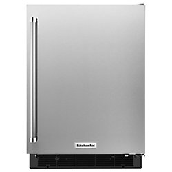 24-inch W 4.9 cu. ft. Undercounter Refrigerator in Stainless Steel - Right Door Swing