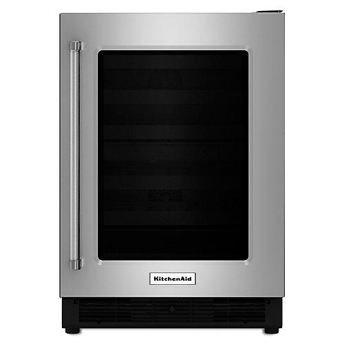 Réfrigérateur de 24 po en acier inoxydable sous-le-comptoir - KURR204ESB