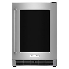5.1 cu. ft. Undercounter Refrigerator with Glass Door and Metal Trim Shelves