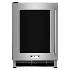 5.1 cu. ft. Undercounter Refrigerator with Glass Door and Metal Trim Shelves in Stainless Steel