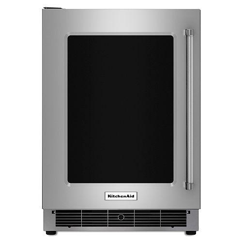 KitchenAid 24-inch W 5.1 cu. ft. Undercounter Fridge in Stainless Steel - Left Door Swing