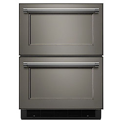 24-inch W 4.7 cu. ft. Double Drawer Refrigerator in Panel Ready, Counter Depth