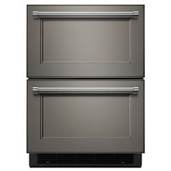 KitchenAid 24-inch W 4.7 cu. ft. Double Drawer Refrigerator in Panel Ready, Counter Depth