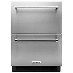 24-inch 4.7 cu. ft. Double Refrigerator Drawer in Stainless Steel