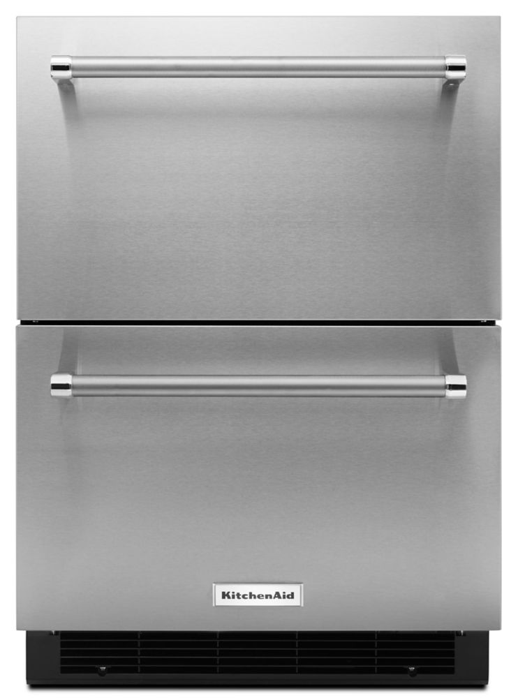 KitchenAid 4.7 cu. ft. Panel Ready Double Refrigerator Drawer in Stainless Steel