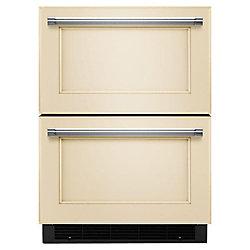 Tiroir réfrigérateur/congélateur de 24 po prêt à accueillir le panneau de recouvrement - KUDF204EPA
