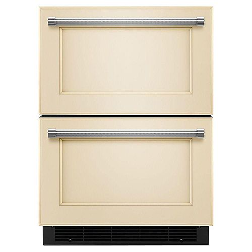4.7 cu. ft. 24-Inch Panel-Ready Refrigerator with Bottom Freezer Drawer