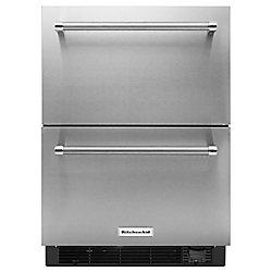 Tiroir réfrigérateur/congélateur de 24 po en acier inoxydable - KUDF204ESB