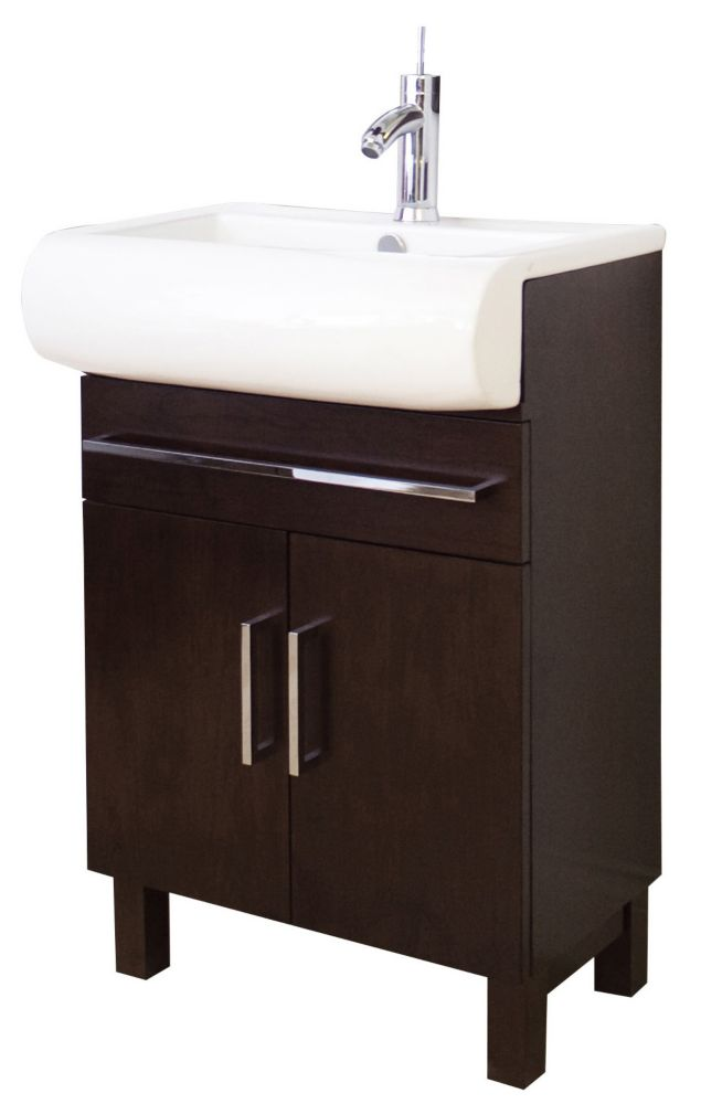 Moselle 36 Inch Modern Glass Bathroom Vanity With Mirror Fvn7712bl In Canada