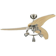 Elite 48-inch Ceiling Fan in Brushed Nickel Finish