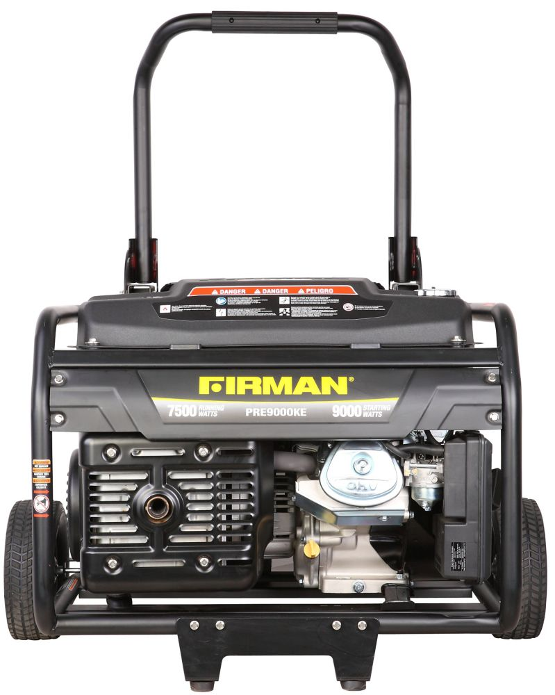 Firman 9000 Watt Electric Start Gas Powered Portable Generator with Kohler Engine and Wheel Kit