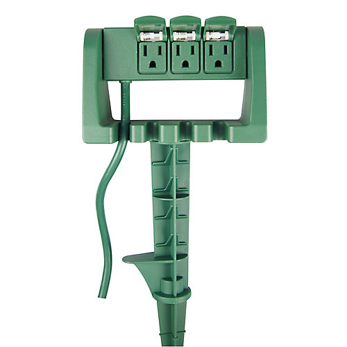 3 Outlet Power Stake
