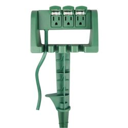 HDX 3 Outlet Power Stake