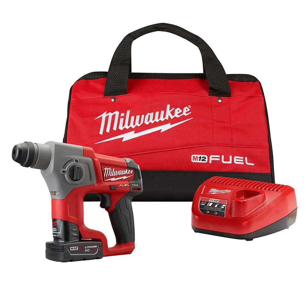 M12 FUEL 5/8 Inch.  SDS Plus Rotary Hammer Kit - Free Battery