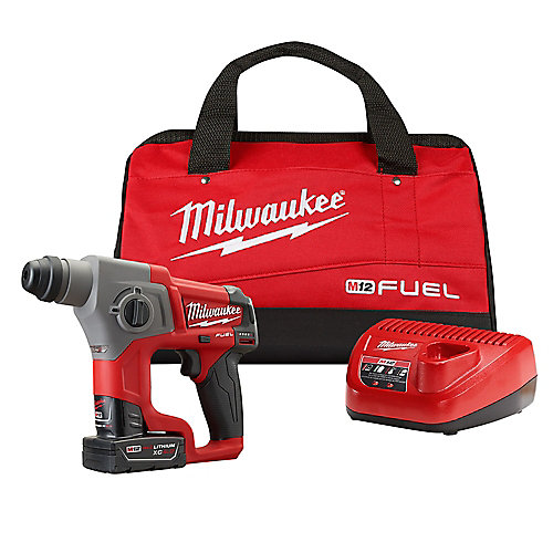 M12 FUEL 12V Lithium-Ion 5/8-Inch Brushless Cordless SDS-Plus Rotary Hammer Kit W/ 4.0h Battery