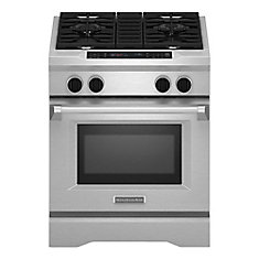 4.1 cu. ft. Dual Fuel Range with Self-Cleaning Convection Oven in Stainless Steel