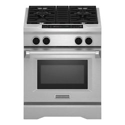 KitchenAid 4.1 cu. ft. Dual Fuel Range with Self-Cleaning Convection Oven in Stainless Steel