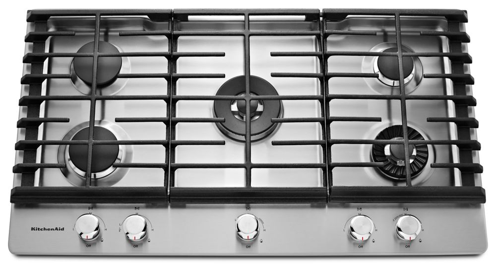 36 Inch Cooktops ~ Kitchenaid inch gas cooktop with even heat griddle