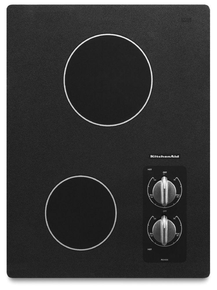 Table de cuisson électrique Architect série II 15 po, 2 éléments - KECC056RBL