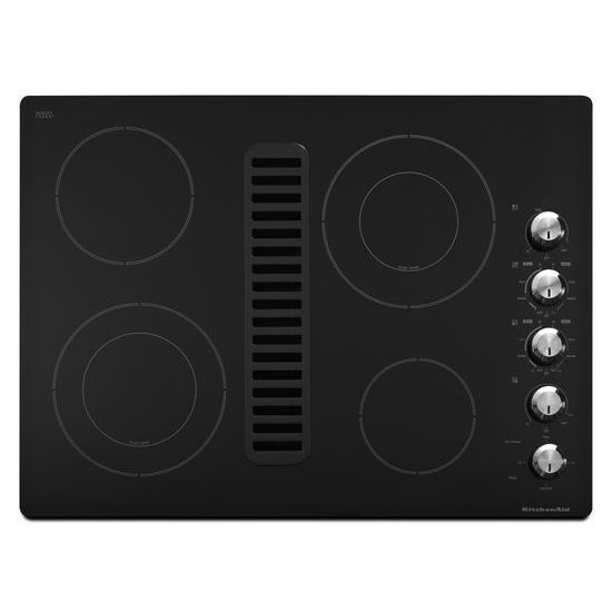 Architect Series II 30-inch Downdraft Electric Cooktop in Black